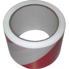 Сигнальная лента (100 м. х 75 мм., красно-белая)